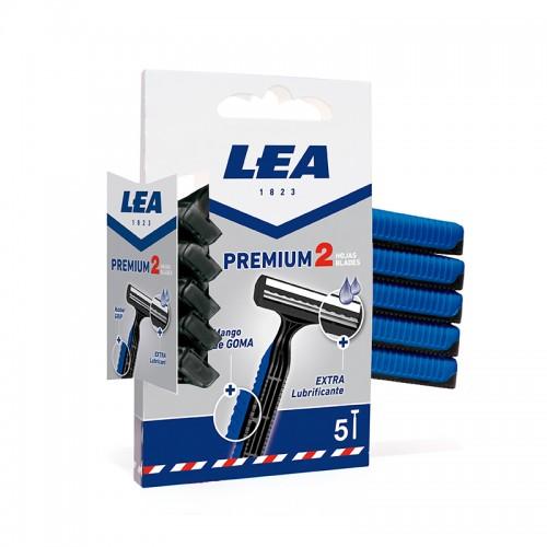 Maquinilla Desechable LEA PREMIUM 2 FIJA 5 uds.