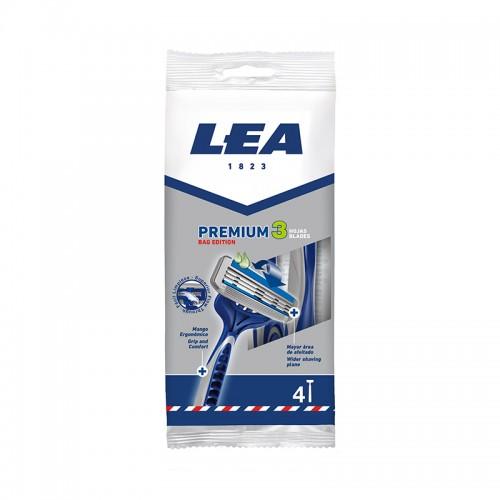 Maquinilla Desechable LEA PREMIUM 3 BAG EDITION 4 uds.
