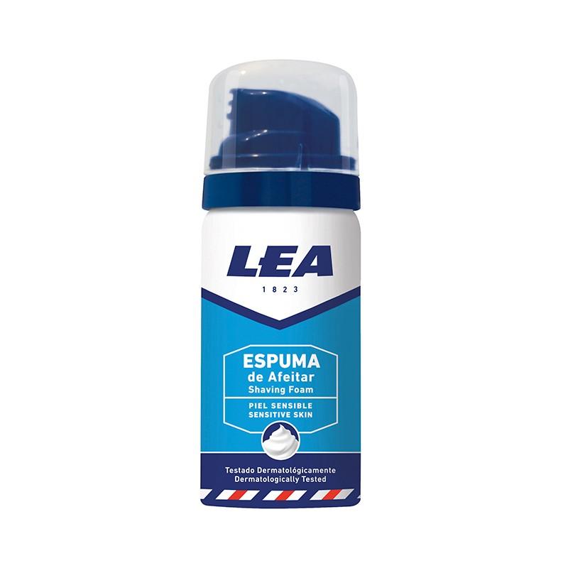 Espuma de Afeitar Lea Sensitive Skin 35 ml. caja con 10 uds.